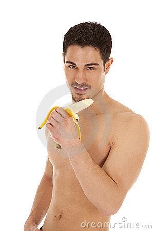 Hm, en voilà une belle banane.